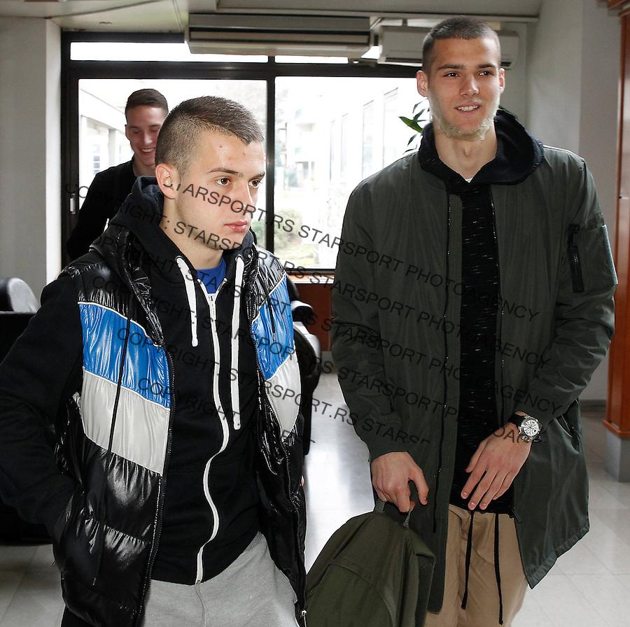 Fudbalski Savez Srbije<br /> U21 Srbija Okupljanje<br /> Nemanja Mihajlovic (L) and Filip Manojlovic<br /> Beograd, 21.03.2016.<br /> foto: Srdjan Stevanovic/Starsportphoto &copy;