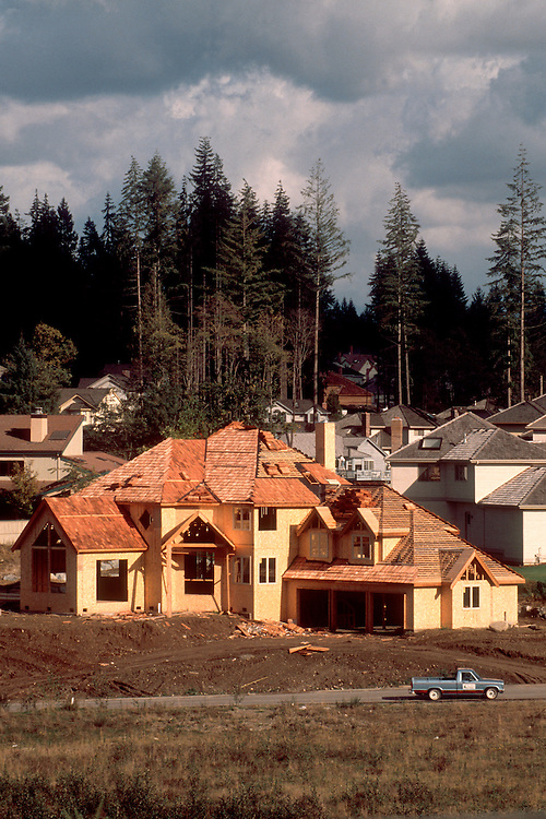 New house construction, Bellevue, Washington State, Pacific Northwest,