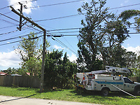 2017 FPL Hurricane Irma restoration in Miami, Fla. on Sept. 12, 2017