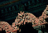 Ornate temple carving, Patan, Nepal