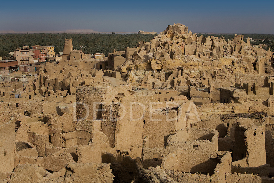 The 13th century mud-brick fortress of Shali in Siwa Town of the Siwa Oasis, near the Libyan border in Egypt.