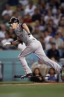 Tim Lincecum #55 of the San Francisco Giants bats against the Los Angeles Dodgers at Dodger Stadium on May 9, 2012 in Los Angeles,California. Los Angeles defeated San Francisco 6-2. (Larry Goren/Four Seam Images)
