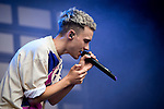 © Joel Goodman - 07973 332324 . 11/06/2016 . Manchester , UK . Years & Years , lead by OLLY ALEXANDER , perform on the main stage at the Parklife music festival at Heaton Park in Manchester . Photo credit : Joel Goodman