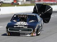 May 16, 2014; Commerce, GA, USA; NHRA pro mod driver Danny Rowe during qualifying for the Southern Nationals at Atlanta Dragway. Mandatory Credit: Mark J. Rebilas-USA TODAY Sports