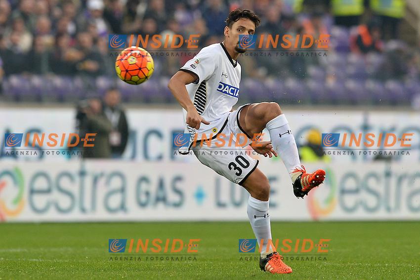 Felipe Udinese.<br /> Firenze 6-12-2015 Stadio Artemisio Franchi, Football Calcio 2015/2016 Serie A. Fiorentina - Udinese. Foto Antonietta Baldassarre / Insidefoto