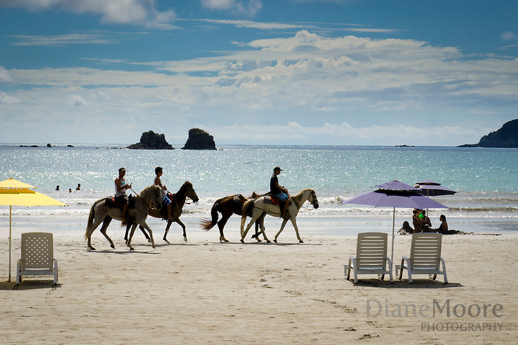 Riding horses Costa Rica beach