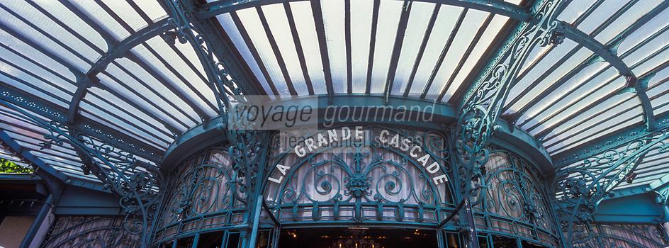 Europe/France/Ile-de-France/75016/Paris:  Restaurant: La Grande Cascade - La verrière