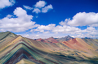 Rainbow Mountain (4950 m), known in local language as Vinicunca, Peru, 2016.