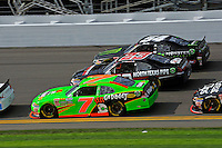 Danica Patrick (#7), Robert Richardson, Jr. (#23) and Kyle Busch (#54)