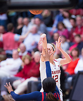 STANFORD, CA - February 22, 2019: Lexie Hull at Maples Pavilion. The Stanford Cardinal defeated the Arizona Wildcats 56-54.