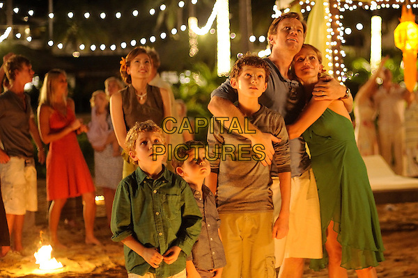 SAMUEL JOSLIN, OAKLEE PENDERGAST, TOM HOLLAND, EWAN McGREGOR & NAOMI WATTS.in The Impossible (2012) .*Filmstill - Editorial Use Only*.CAP/FB.Supplied by Capital Pictures.