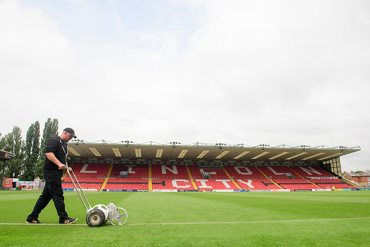 A general view of Sincil Bank, home of Lincoln City FC<br /> <br /> Photographer Chris Vaughan/CameraSport<br /> <br /> Football Pre-Season Friendly - Lincoln City v Sheffield Wednesday - Saturday 13th July 2019 - Sincil Bank - Lincoln<br /> <br /> World Copyright © 2019 CameraSport. All rights reserved. 43 Linden Ave. Countesthorpe. Leicester. England. LE8 5PG - Tel: +44 (0) 116 277 4147 - admin@camerasport.com - www.camerasport.com