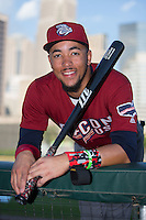 J.P. Crawford (3) of the Lehigh Valley Iron Pigs poses for a photo prior to the game against the Charlotte Knights at BB&T BallPark on June 3, 2016 in Charlotte, North Carolina.  The Iron Pigs defeated the Knights 6-4.  (Brian Westerholt/Four Seam Images)