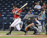10 April 2008: Infielder Van Pope (8) of the Mississippi Braves, Class AA affiliate of the Atlanta Braves, in a game against the Mobile BayBears at Trustmark Park in Pearl, Miss. Photo by:  Tom Priddy/Four Seam Images