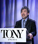 David Henry Hwang attend the 2018 Tony Awards Nominations Announcement at The New York Public Library for the Performing Arts on May 1, 2018 in New York City.