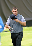 ISPS Handa Wales Open Golf final day at the Celtic Manor Resort in Newport, UK. : Lee Westwood of England smiles as he walks off the 18th green.