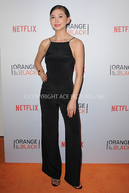WWW.ACEPIXS.COM<br /> June 11, 2015 New York City<br /> <br /> Kimiko Glenn attending the 'Orangecon' Fan Event at Skylight Clarkson SQ on June 11, 2015 in New York City.<br /> <br /> Credit : Kristin Callahan/ACE Pictures<br /> Tel: (646) 769 0430<br /> e-mail: info@acepixs.com<br /> web: http://www.acepixs.com