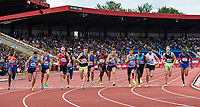 The competitors start the Emsley Carr Mile during the Muller Grand Prix Birmingham Athletics at Alexandra Stadium, Birmingham, England on 20 August 2017. Photo by Andy Rowland.