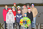 LOCH SWIM: Some of the ,locals from Lerrig, Kilmoyley who launched their Christmas Day Slash in Lerrig Loch on Thursday. Front l-r: Emma Curran, Sarah Walsh, Ciarán Sheehy and Saoire Sheehy. Back l-r: Eilín Loibféad, Padraig Regan, Bernie Meehan, Susan Curran, Mary Walsh, John Fitzgerald and Mike Curran.