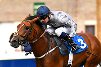 Winner of The Irish Yearling Sales Nursery Stakes Headland ridden by Oisin Murphy and trained by Martyn Meade during the Bathwick Tyres & EBF Race Day at Salisbury Racecourse on 6th September 2018