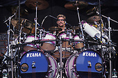 WANTAGH NY - AUGUST 09: Mike Portnoy of Dream Theater performs at The Jones Beach Amphitheater on August 9, 1998 in Wantagh, New York. Photo by Larry Marano © 1998