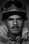 Pvt. Sa'aba Abed Mutir, 26, Nasiriyah, Laborer, 4th Co., 2nd Battalion, 7th Division of the Iraqi Army in Haditha, Iraq on Sun. Nov. 27, 2005.