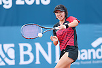 Noa Takahashi (JPN), <br /> AUGUST 28, 2018 - Soft Tennis : <br /> Women's Singles Preliminary Round <br /> at Jakabaring Sport Center Tennis Courts <br /> during the 2018 Jakarta Palembang Asian Games <br /> in Palembang, Indonesia. <br /> (Photo by Yohei Osada/AFLO SPORT)