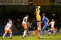 Gillingham's Tomas Holy defends an attempt at goal<br /> <br /> Photographer Rachel Holborn/CameraSport<br /> <br /> The EFL Sky Bet League One - Gillingham v Blackpool - Tuesday 6th November 2018 - Priestfield Stadium - Gillingham<br /> <br /> World Copyright &copy; 2018 CameraSport. All rights reserved. 43 Linden Ave. Countesthorpe. Leicester. England. LE8 5PG - Tel: +44 (0) 116 277 4147 - admin@camerasport.com - www.camerasport.com
