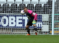 Pictured: Swansea cgairman Huw Jenkins the team Woodyatt goalkeeper. Sunday, 01 June 2014<br />