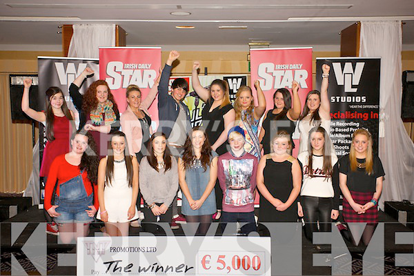 Sixteen finalist in  the Teen Star Talent competition at the Carlton Hotel on Sunday <br /> Pictured front l-r  Candice Barrett, Zoe Riordan, Nieve McCarthy, Gemma Wells, Cian Lawlor, Joann O&rsquo;Donnell, Makayla O Sullivan, Emma Louise O'Brien. Back l-r Kate Egan, Lisa Hoban, Shauna Nolan, Daniel Tehan, Laura Bradbury, Breda Corcoran, Celina Corcoran and Danielle Duggan