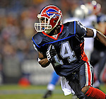 28 August 2008:  Buffalo Bills' wide receiver Felton Huggins in action against the Detroit Lions at Ralph Wilson Stadium in Orchard Park, NY. The Lions defeated the Bills 14-6 in their fourth and final pre-season game...Mandatory Photo Credit: Ed Wolfstein Photo
