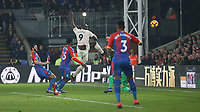 Manchester United's Romelu Lukaku scores his side's second goal <br /> <br /> Photographer Rob Newell/CameraSport<br /> <br /> The Premier League - Wednesday 27th February 2019  - Crystal Palace v Manchester United - Selhurst Park - London<br /> <br /> World Copyright © 2019 CameraSport. All rights reserved. 43 Linden Ave. Countesthorpe. Leicester. England. LE8 5PG - Tel: +44 (0) 116 277 4147 - admin@camerasport.com - www.camerasport.com