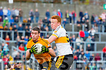 Johnny Buckley Dr Crokes and Fiachna Mangan Stacks challenge in action during their County Championship clash in Fitzgerald Stadium on sunday