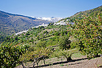 Village of Capileira in the River Rio Poqueira gorge valley, High Alpujarras, Sierra Nevada, Granada Province, Spain