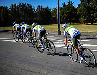 The Australia national team in action during race one of the Trust House Women's Cycle Tour Of New Zealand in Masterton, New Zealand on Wednesday, 18 February 2015. Photo: Dave Lintott / lintottphoto.co.nz