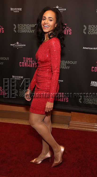 Cara Ricketts attends the Broadway Opening Night After Party for The Roundabout Theatre Company production of 'Time and The Conways'  on October 10, 2017 at the American Airlines Theatre in New York City.