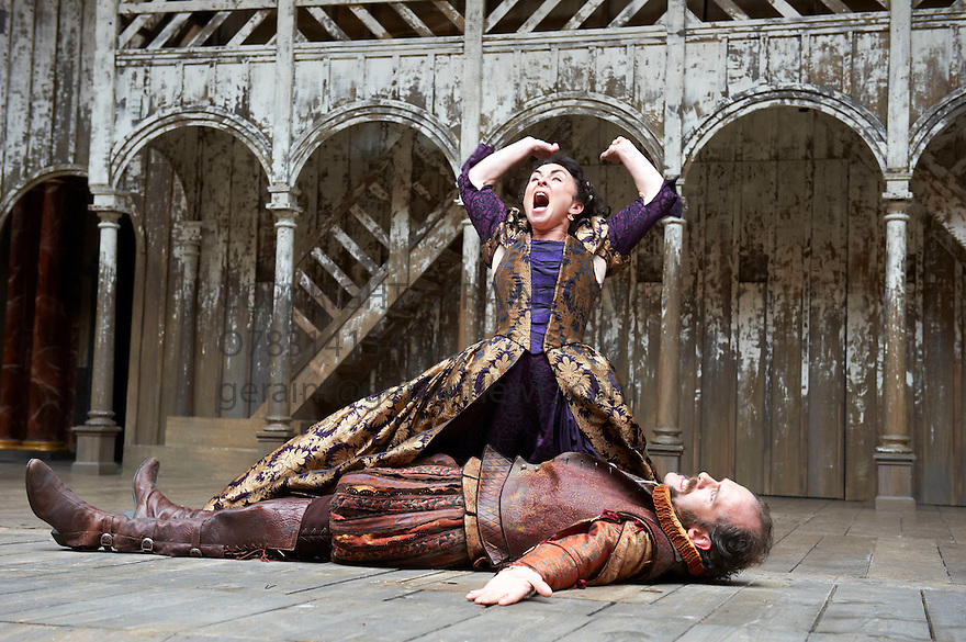 The Taming of The Shrew by William Shakespeare, A  Shakespeare's Globe Production directed by Toby Frow. With Samantha Spiro as Kate, Simon Paisley Day as Petruchio. Opens at Shakespeare's Globe Theatre  on 4/7/12.CREDIT Geraint Lewis