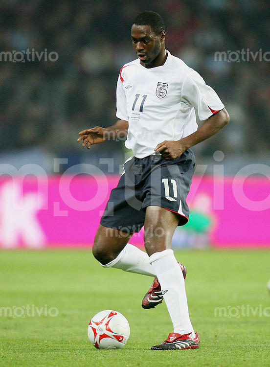 Fussball International Testspiel England 3-2 Argentinien Ledley King (ENG) am Ball