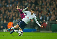 Tottenham's Dele Alli during the Premier League match between Tottenham Hotspur and Manchester City at Wembley Stadium, London, England on 14 April 2018. Photo by Andrew Aleksiejczuk / PRiME Media Images.
