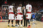 Head coach Rick Pitino of the Louisville Cardinals yells at his team during the game against  the Kentucky Wildcats at KFC Yum! Center on Saturday, December 27, 2014 in Louisville `, Ky. Kentucky leads Louisville 22-18 at halftime. Photo by Michael Reaves | Staff