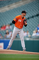 Norfolk Tides pitcher Jay Flaa (30) during an International League game against the Buffalo Bisons on June 21, 2019 at Sahlen Field in Buffalo, New York.  Buffalo defeated Norfolk 2-1, the first game of a doubleheader.  (Mike Janes/Four Seam Images)