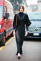 Veronika Heilbrunner at Milan Fashion Week (Photo by Hunter Abrams/Guest of a Guest)