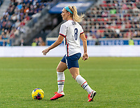 HARRISON, NJ - MARCH 08: Julie Ertz #8 of the United States dribbles during a game between Spain and USWNT at Red Bull Arena on March 08, 2020 in Harrison, New Jersey.