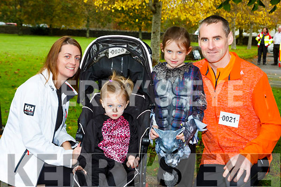 Lisa, Sarah, Ella and Martin Crowley who ran in the Killarney Halloween run on Saturday