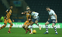 Preston North End's Daniel Johnson shields the ball from Hull City's Jarrod Bowen<br /> <br /> Photographer Stephen White/CameraSport<br /> <br /> The EFL Sky Bet Championship - Preston North End v Hull City - Wednesday 26th December 2018 - Deepdale Stadium - Preston<br /> <br /> World Copyright &copy; 2018 CameraSport. All rights reserved. 43 Linden Ave. Countesthorpe. Leicester. England. LE8 5PG - Tel: +44 (0) 116 277 4147 - admin@camerasport.com - www.camerasport.com