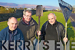 FLORAL PLANS: Milltown Tidy Towns committee members are planning to revamp a large green area on the approach to the town, l-r: Denis O'Mahony, Liam Hurley and Maurice Harmon.