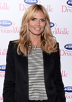 NEW YORK, NY - APRIL 2 ,2014: Heidi Klum Joins Dr Scholl's to Announce The Dreamwalk Line At the Gansevoort  Park Ave Hotel in New York City ,April 2, 2014 in New York City.  HP/Starlitepics.