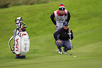 Lizette Salas (USA) on the 1st green during Day 3 Singles at the Solheim Cup 2019, Gleneagles Golf CLub, Auchterarder, Perthshire, Scotland. 15/09/2019.<br /> Picture Thos Caffrey / Golffile.ie<br /> <br /> All photo usage must carry mandatory copyright credit (© Golffile | Thos Caffrey)