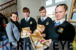 Students from Colaiste na Ríochta, Listowel, pictured on Tuesday last, as they have invented Bamboo Boxes as part of their Student Enterprise Awards, the boxes are biodegradable and environmentally friendly, Foreground l-r: Suzanne Lynch, Aaron Broderick, Darragh Mulvihill and Nadine Moloney.