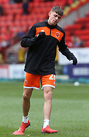 Blackpool's Elias Sorensen during the pre-match warm-up <br /> <br /> Photographer David Shipman/CameraSport<br /> <br /> The EFL Sky Bet League One - Charlton Athletic v Blackpool - Saturday 16th February 2019 - The Valley - London<br /> <br /> World Copyright © 2019 CameraSport. All rights reserved. 43 Linden Ave. Countesthorpe. Leicester. England. LE8 5PG - Tel: +44 (0) 116 277 4147 - admin@camerasport.com - www.camerasport.com